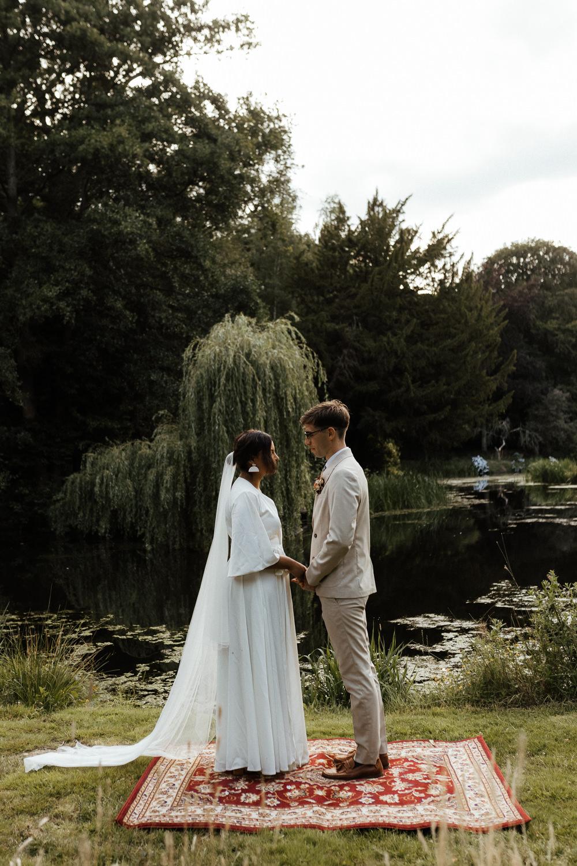 Ceremony Garden Rug Small Wedding Ideas UK Caitlin and Jones