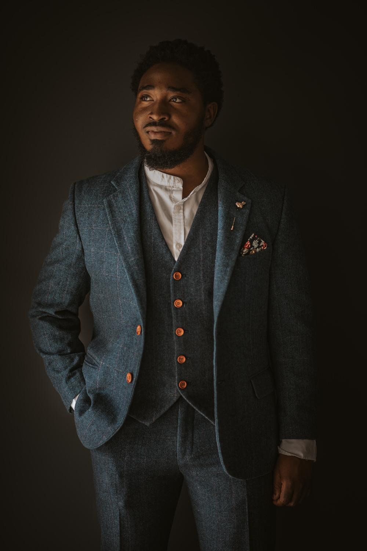 Groom Suit Blue Tweed Art Wedding Ideas Tom Halliday Photography