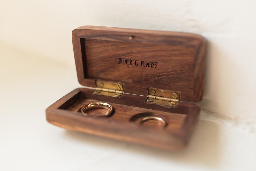 Wooden Ring Box Doxford Barns Wedding Lara Frost Photography