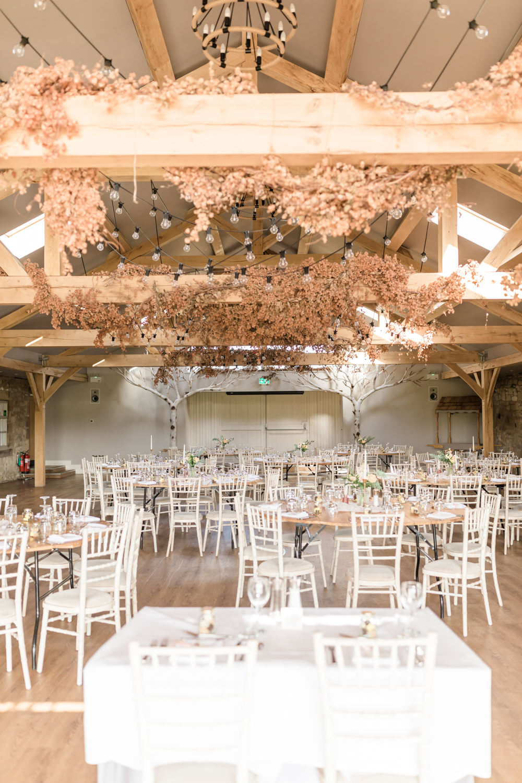 Festoon Lights Hops Decor Doxford Barns Wedding Lara Frost Photography
