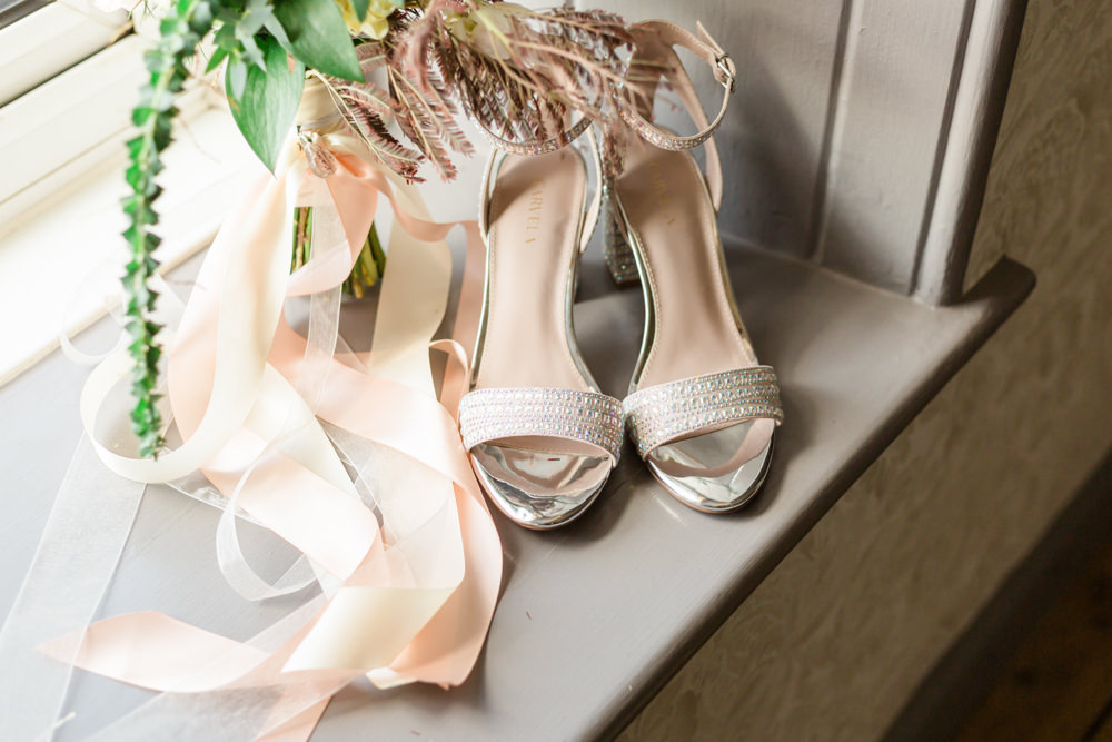 Bride Bridal Shoes Doxford Barns Wedding Lara Frost Photography