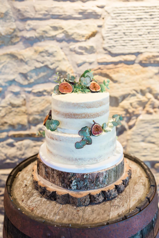 Semi Naked Cake Log Stand Doxford Barns Wedding Lara Frost Photography