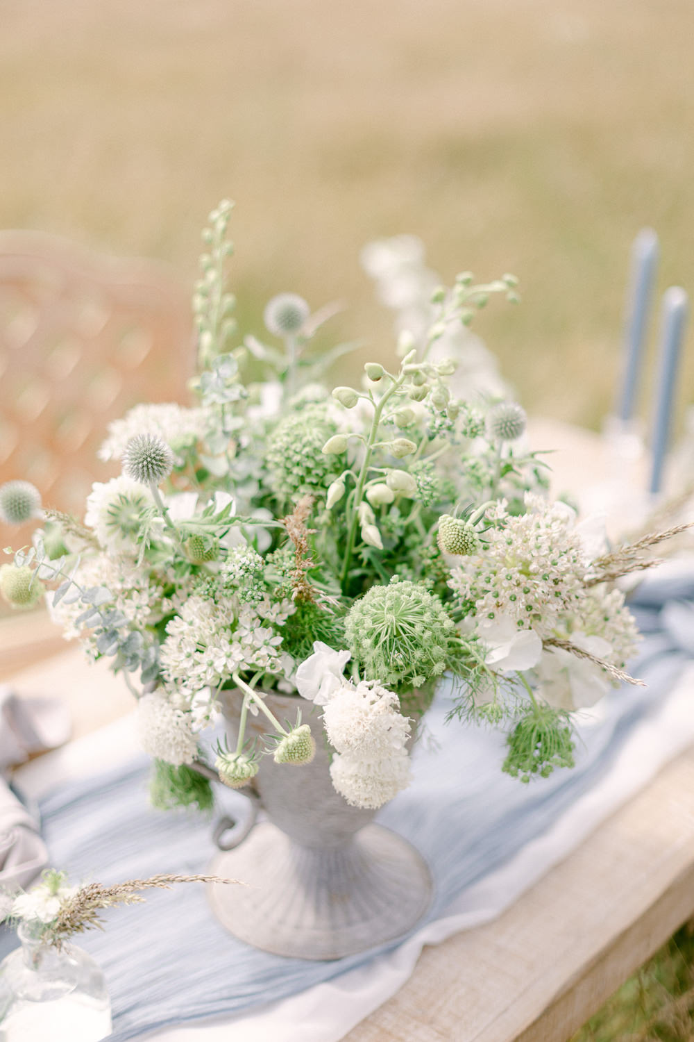 Centrepiece Flowers Greenery Foliage Table Family Elopement Ideas Sophie May Photo