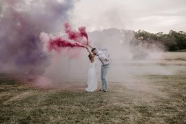 Glevering Hall Wedding Sharon Cudworth Photography Smoke Bomb