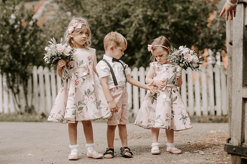 Page Boy Flower Girl Glevering Hall Wedding Sharon Cudworth Photography