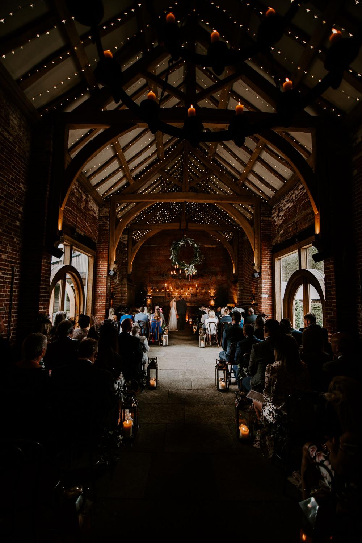 Ceremony Lights Lighting Candles Hazel Gap Barn Wedding The Light Painters
