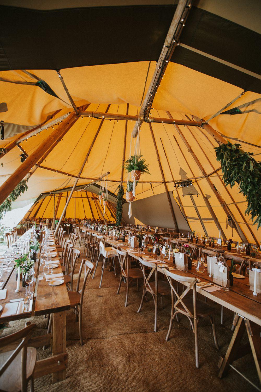 Tipi Decor Reception Pennard Hill Farm Wedding MT Studio