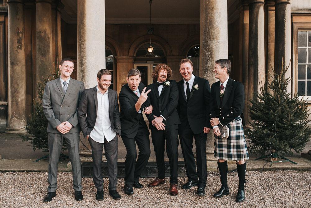 Groomsmen Prestwold Hall Wedding Pear & Bear Photography