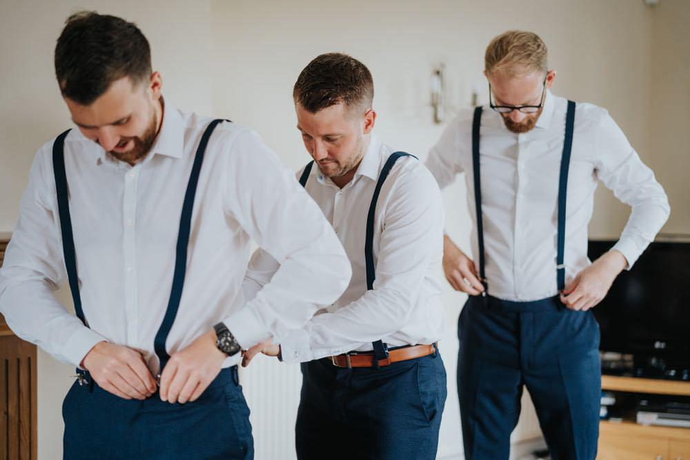 The Barns East Yorkshire Wedding Bloom Weddings Groom Groomsmen Braces