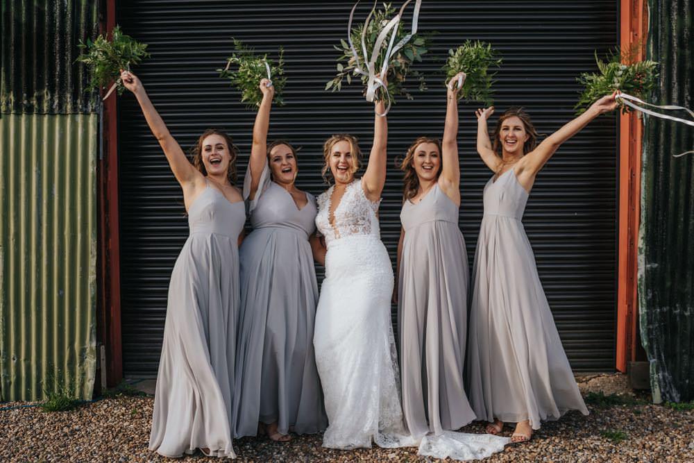Bridesmaids Bridesmaid Dress Dresses Grey The Barns East Yorkshire Wedding Bloom Weddings