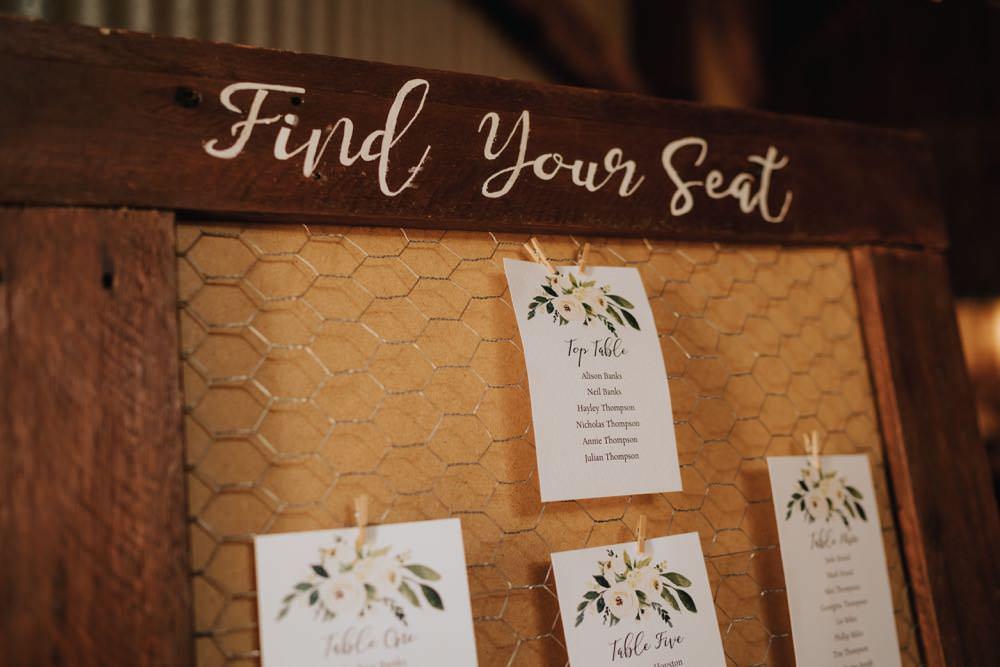 Table Plan Seating Chart The Barns East Yorkshire Wedding Bloom Weddings