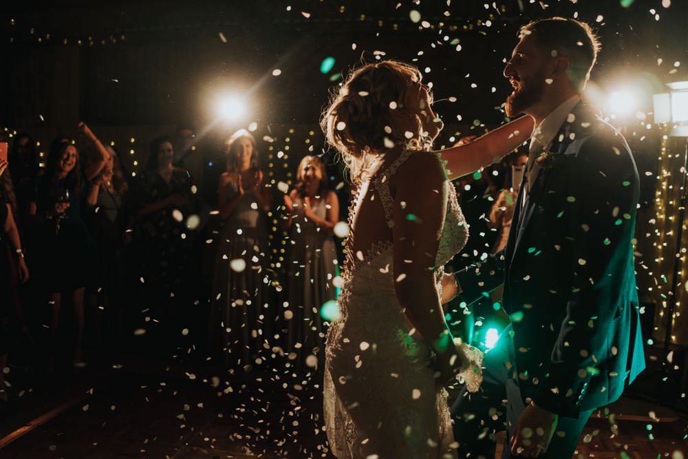 Confetti Dance Floor First Dance The Barns East Yorkshire Wedding Bloom Weddings