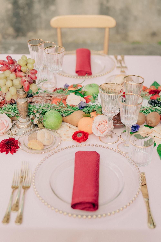 Place Setting Decor Napkin Tuscan Wedding Ideas Giuseppe Giovannelli