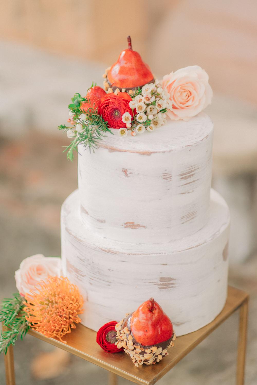 Buttercream Cake Semi Naked Flowers Tuscan Wedding Ideas Giuseppe Giovannelli