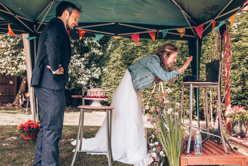 Zoom Ceremony Two Part Wedding Erica Hawkins Photography