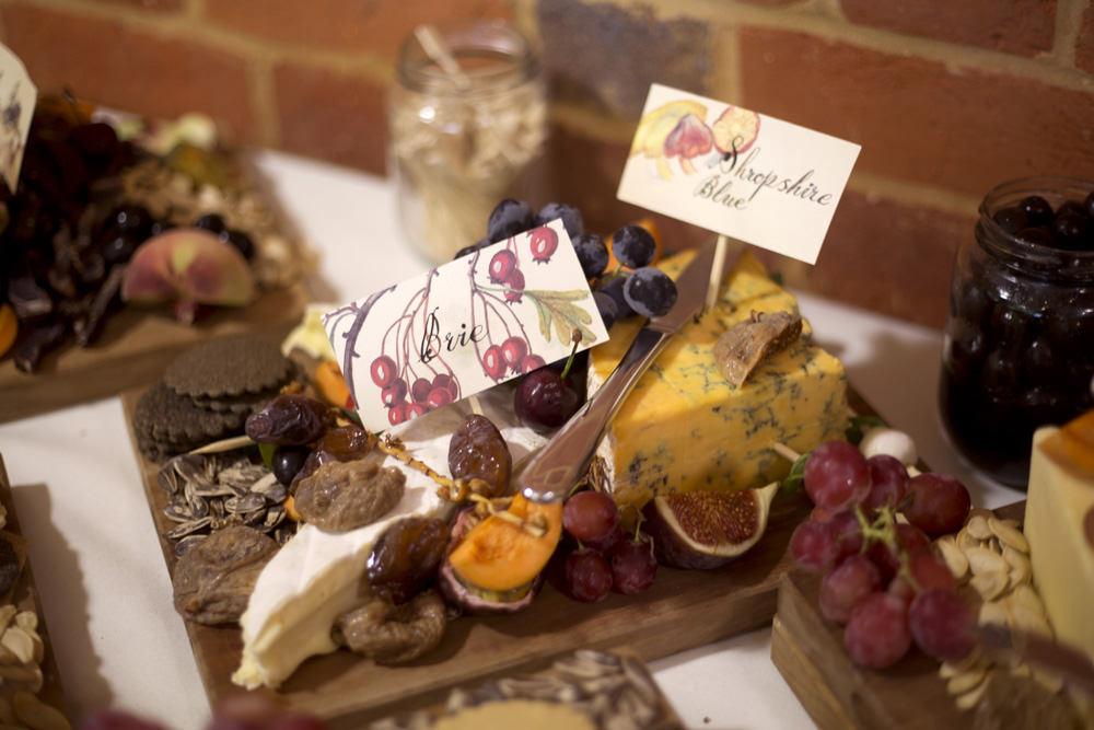 Chese Board Platter Cuffley Camp Wedding Heather Winstanley Photography