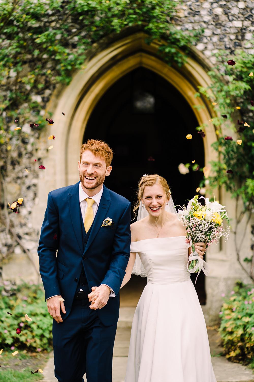 Confetti Throw Garden Wedding Reception Jade Touron Photography