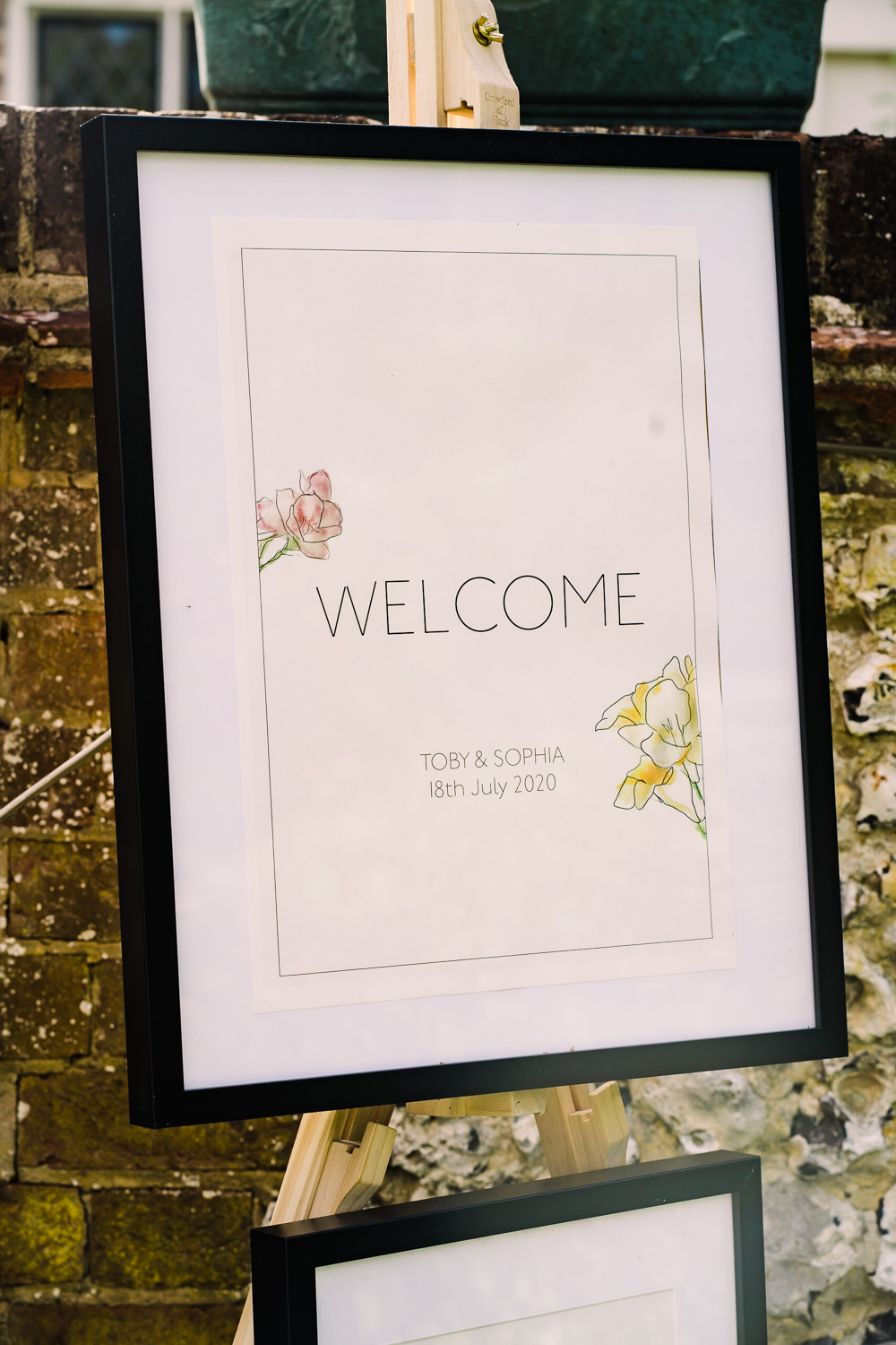 Welcome Sign Signs Signage Garden Wedding Reception Jade Touron Photography