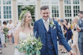Confetti Throw Hide Sheffield Wedding Sasha Lee Photography