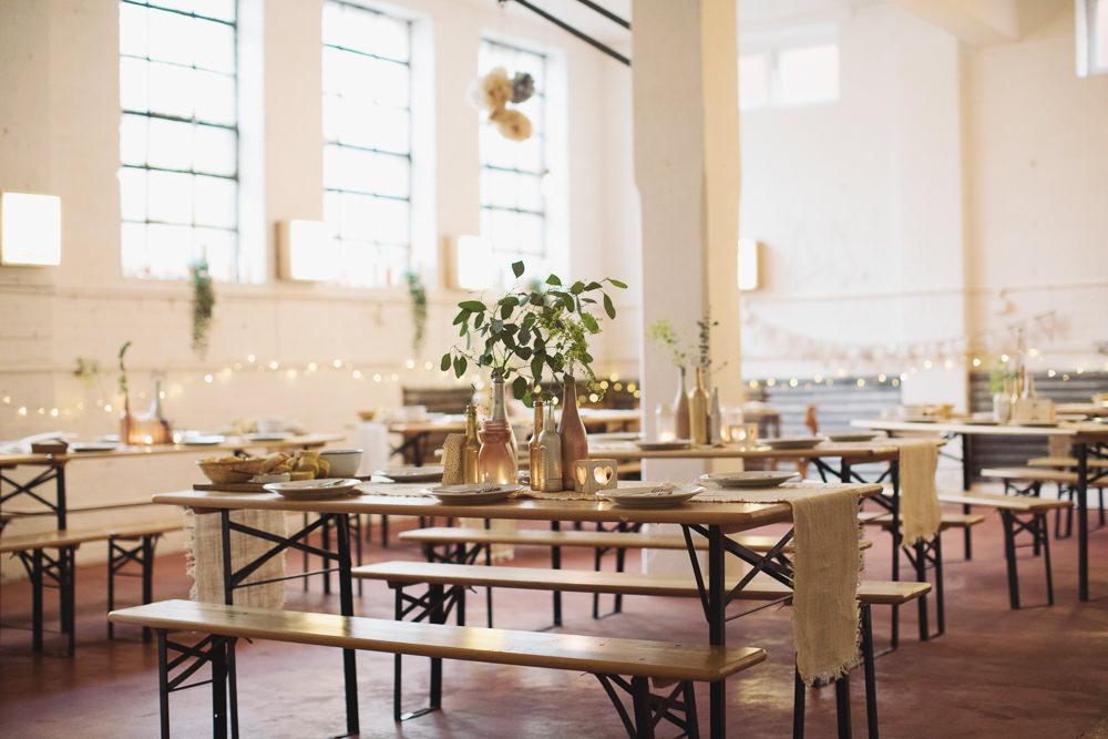 Warehouse Venue Decor Hide Sheffield Wedding Sasha Lee Photography