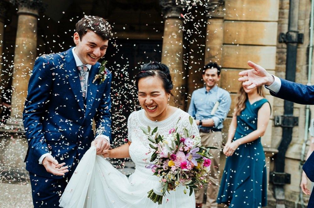Confetti Throw July 2020 Wedding Nathan Walker Photography