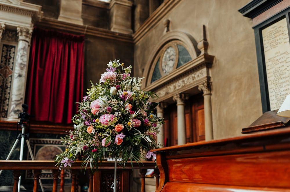 Flower Arrangement July 2020 Wedding Nathan Walker Photography