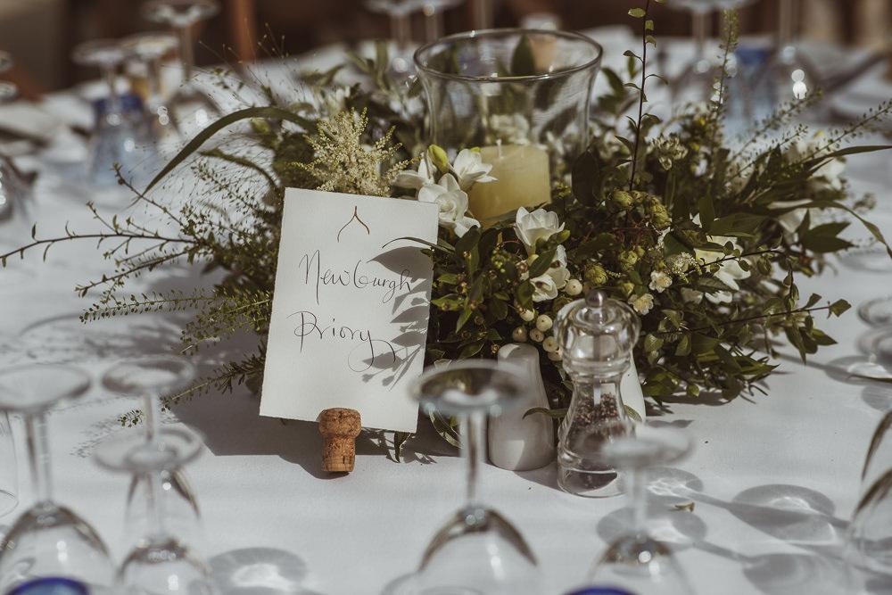 Calligraphy Table Name Newburgh Priory Wedding Neil Jackson Photographic