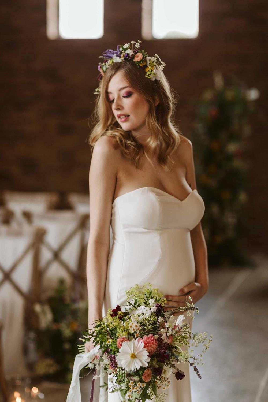 Pregnant Bride Bump Oakwood at Ryther Wedding Freya Raby