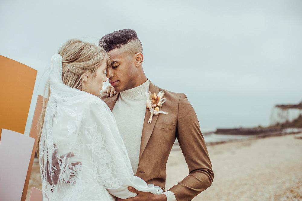 Groom Brown Suit Roll Neck Jumper Rust Wedding Inspiration Golden Hare Wedding Photography