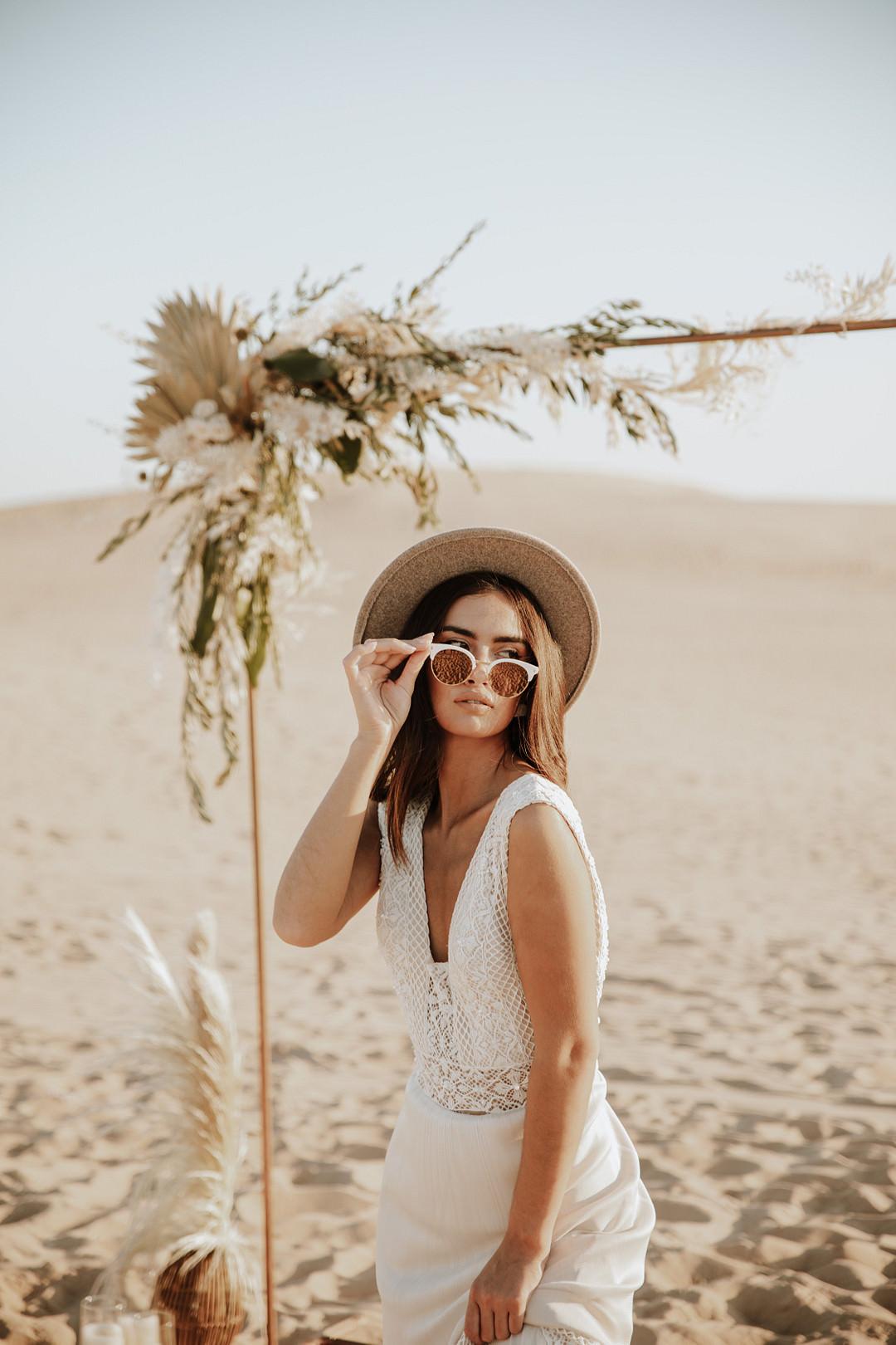 Sunglasses Bride Sand Dunes Wedding Photos By Gayle