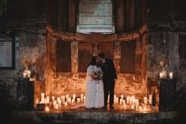 Asylum London Candles St Bart's Brewery Wedding Joseph Kinerman