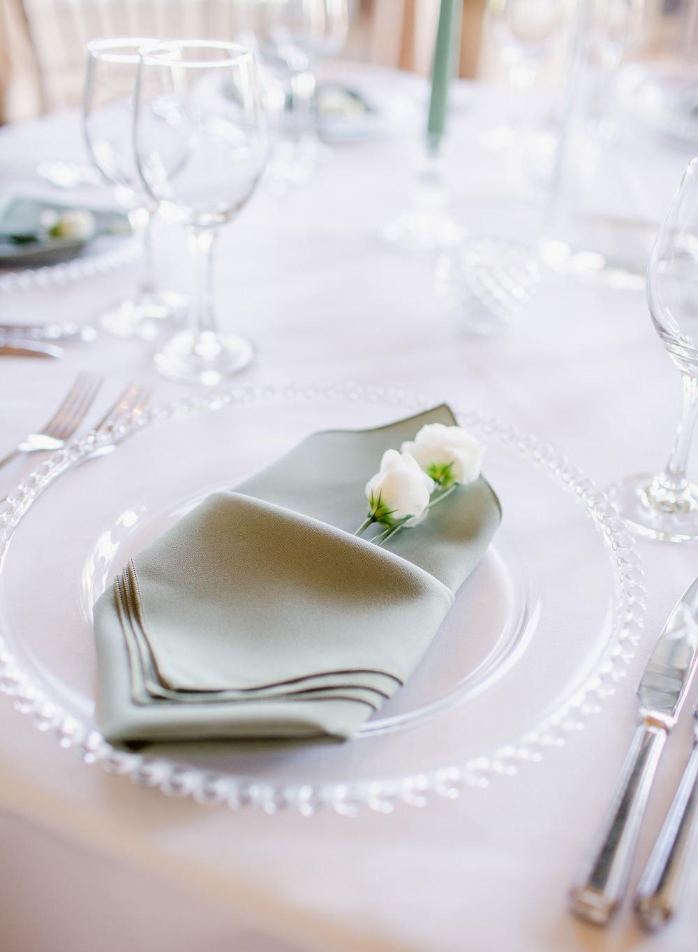Place Settin Napkin Stately Home Wedding Whitney Lloyd Photography