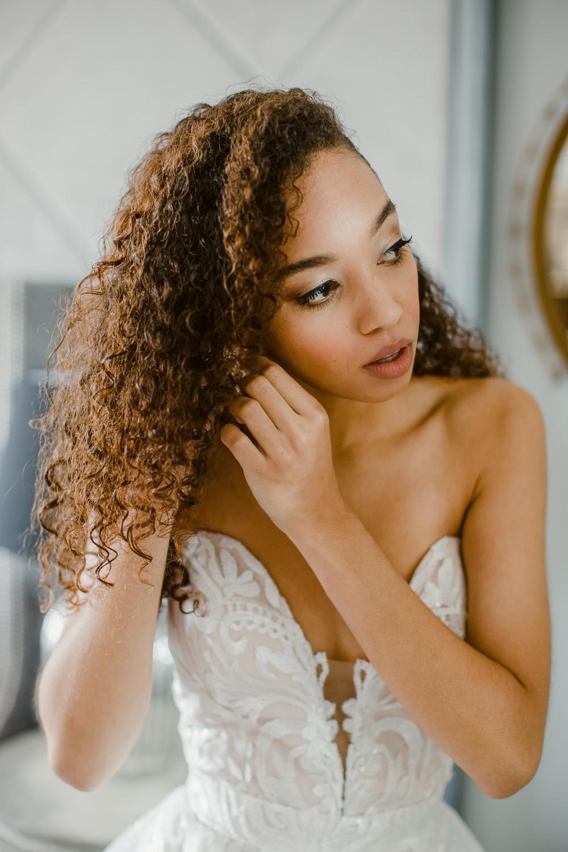 Bride Bridal Hair Make Up Stately Home Wedding Whitney Lloyd Photography