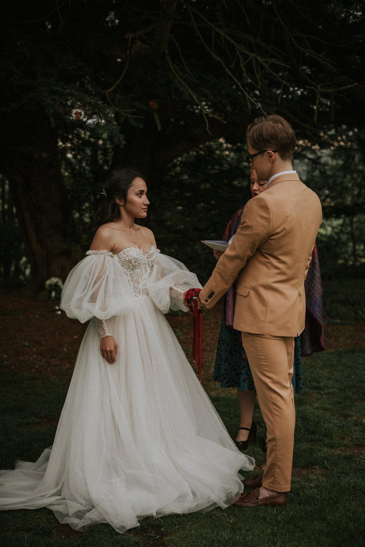 Handfasting Ceremony Thirlestane Castle Wedding Bernadeta Kupiec Photography
