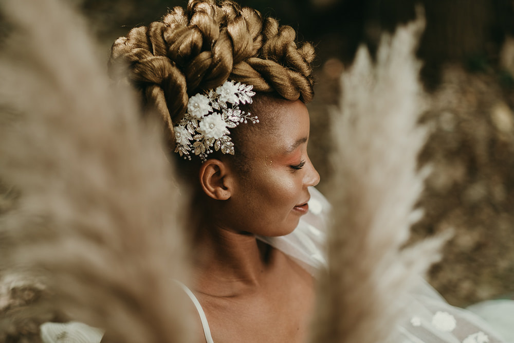 Bride Bridal Hair Style Up Do Accessory Woods Wedding Tom Jeavons Photography