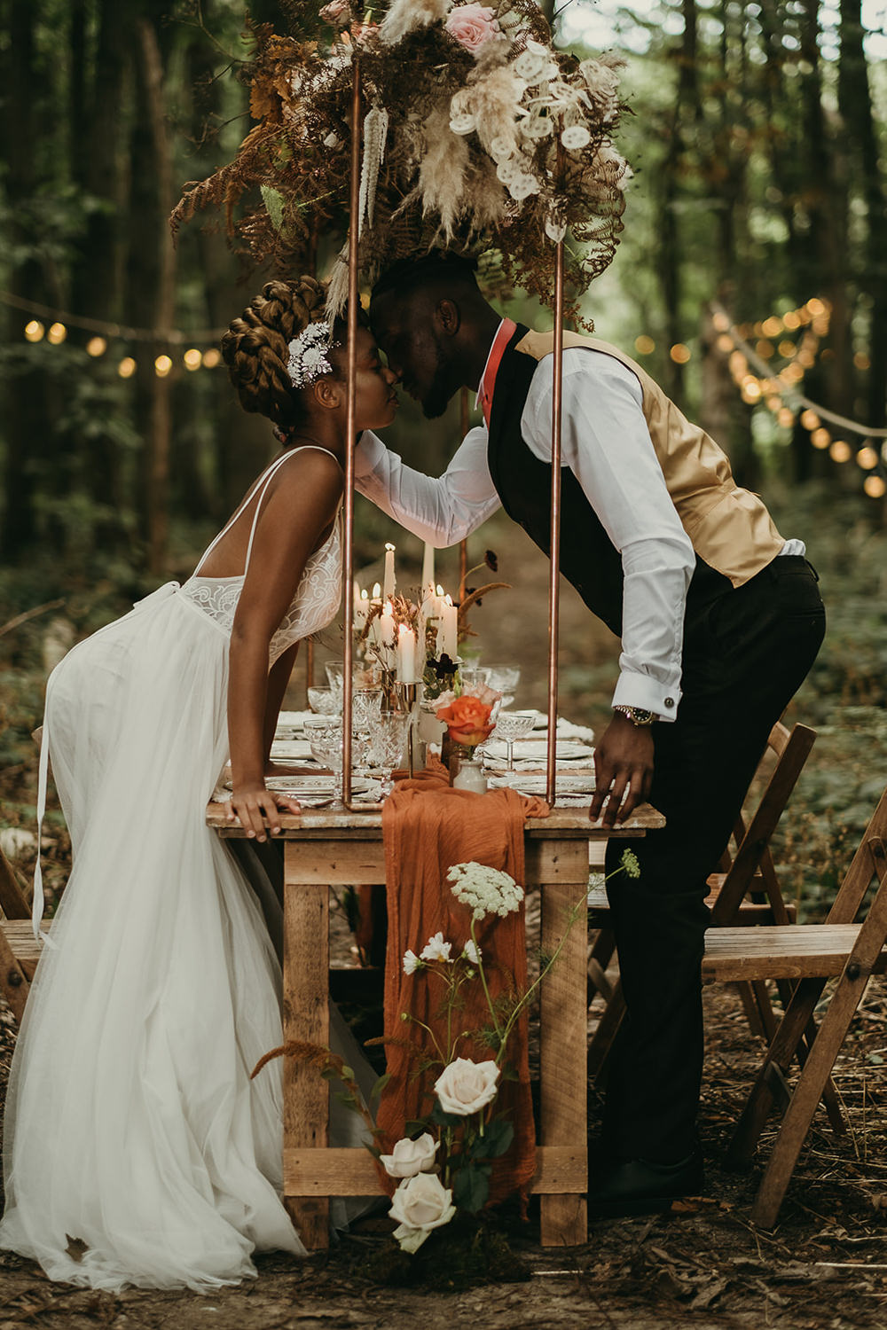 Woods Wedding Tom Jeavons Photography Table Tablescape Decor Candles Flowers Lighting