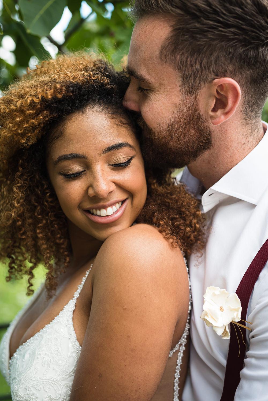 Bride Bridal Hair Make Up Barn Elopement FJS Wedding Photography