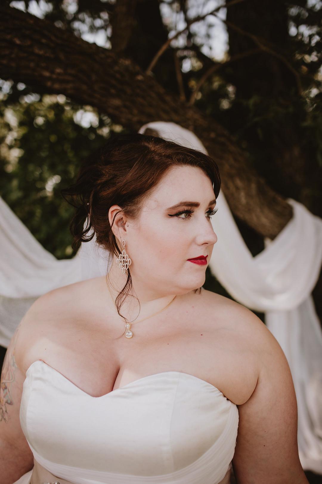 Bride Bridal Make Up Fairytale Forest Wedding Christina W Kroeker Creative