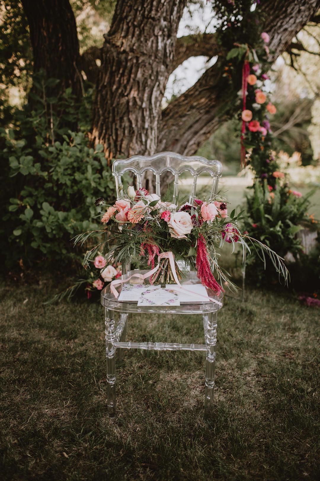 Ghost Chair Fairytale Forest Wedding Christina W Kroeker Creative