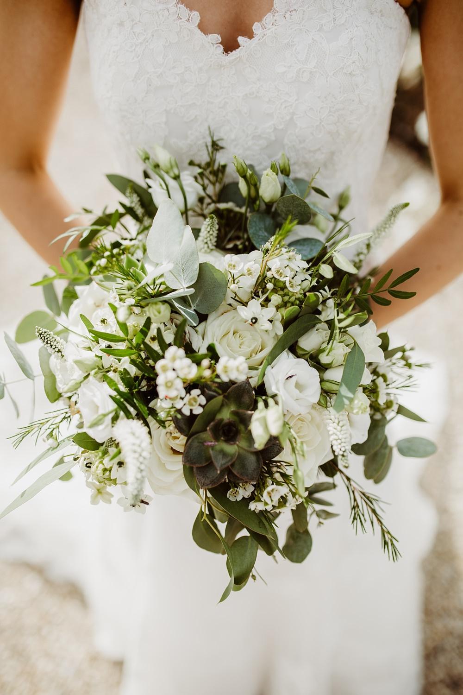 Bouquet Flowers Bride Bridal Greenery Eucalyptus Greek English Wedding Holly Collings Photography