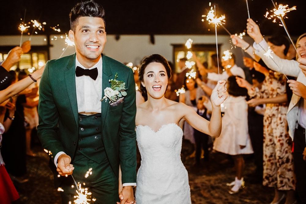 Sparklers Sparkler Exit Send Off Greek English Wedding Holly Collings Photography