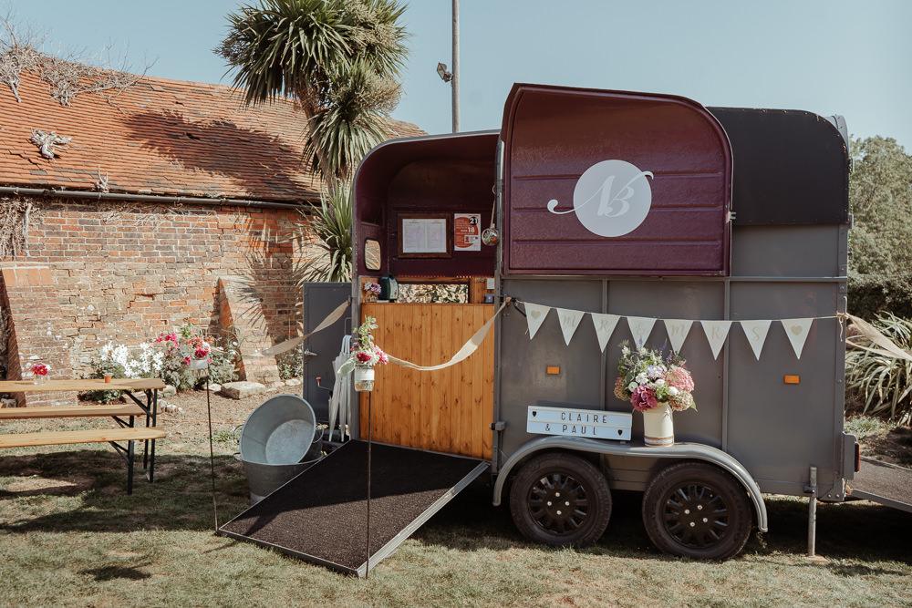 Intimate Wedding Ideas Imogen Eve Photography Horse Box Bar
