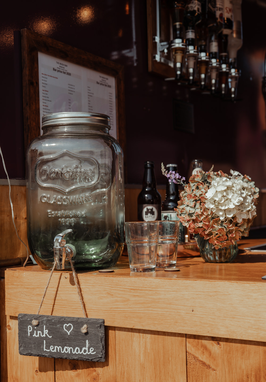 Drink Dispenser Intimate Wedding Ideas Imogen Eve Photography