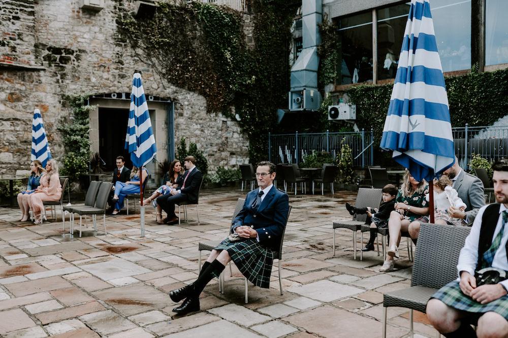 COVID Ceremony Outdoor Orocco Pier Wedding Meggy Mac Photography