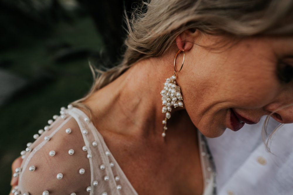 Bride Bridal Earrings UK Boho Elopement Jenny Appleton
