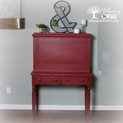 When in Doubt, Go With Red! Desk Makeover