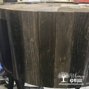 Reclaimed wood coffee table-before sanding