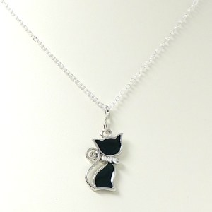 Children's Black Cat Necklace