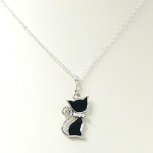 Children's Black Cat Necklace
