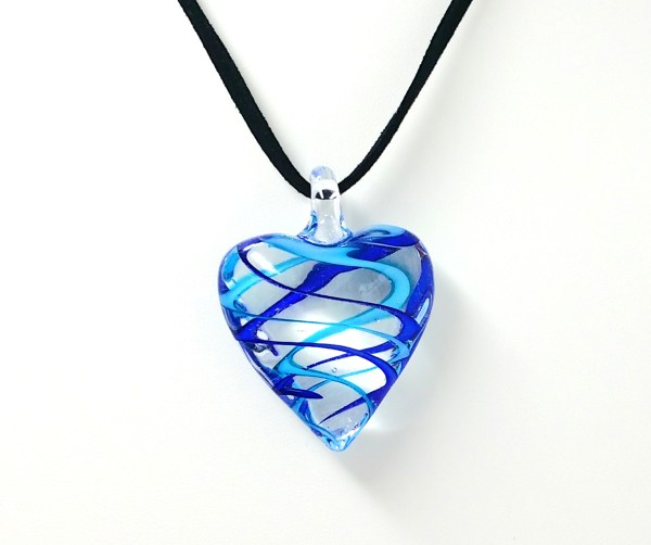 blue swirl heart